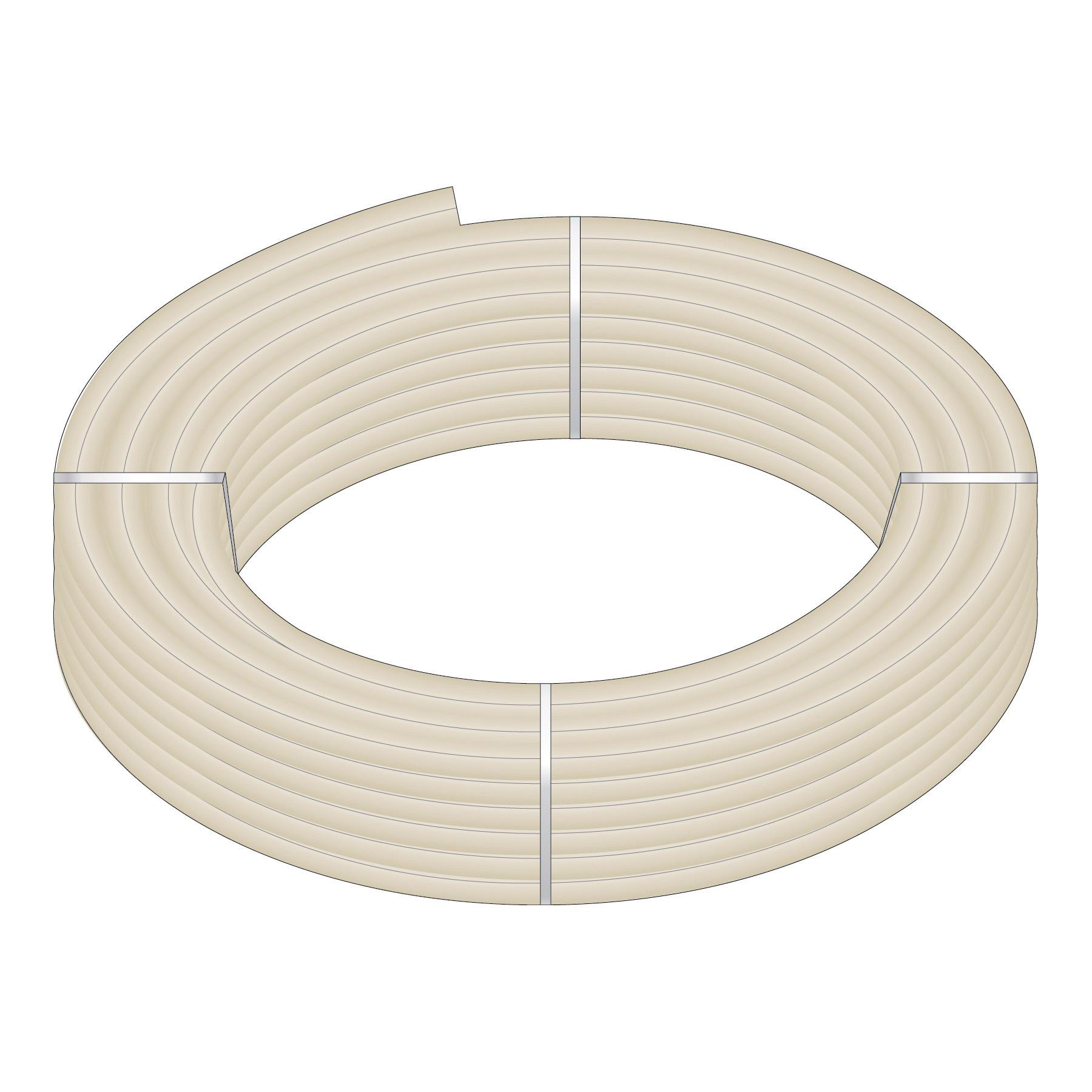 HeatLink® 20135 20000 UV Stabilized Plus Potable Water Tubing, 1-1/4 in Nominal, 1.054 in ID x 1-3/8 in OD x 100 ft Coil L, 0.153 in THK Wall, Natural/Black, Engel/Peroxide, Import