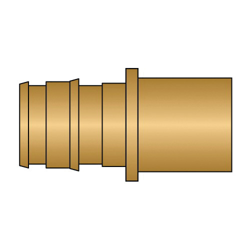 HeatLink® EX27105NL 27100NL Adapter, 1/2 in Nominal, PEX F1960 x Male C End Style, Brass, Domestic