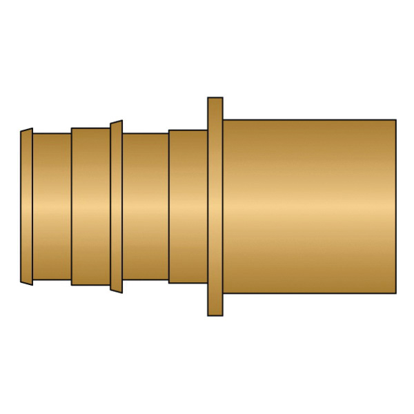 HeatLink® EX27122NL 27100NL Adapter, 3/4 in Nominal, PEX F1960 x Male C End Style, Brass, Domestic