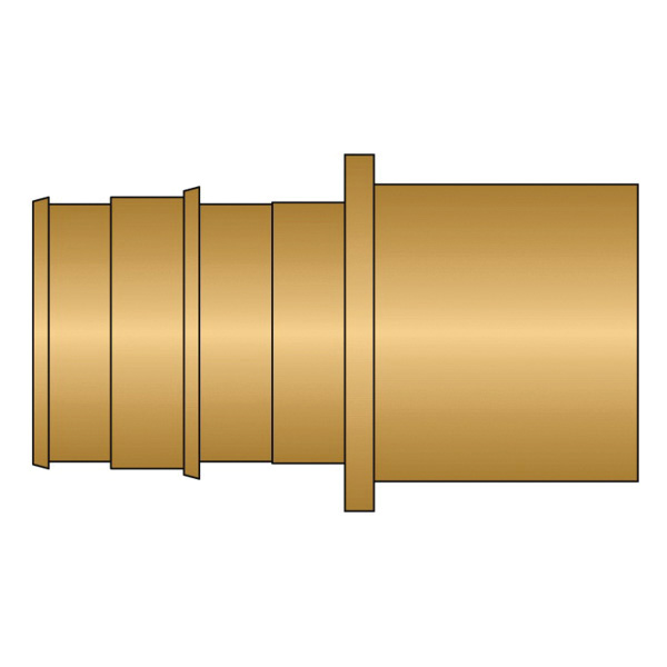 HeatLink® EX27128NL 27100NL Adapter, 1 in Nominal, PEX F1960 x Male C End Style, Brass, Domestic