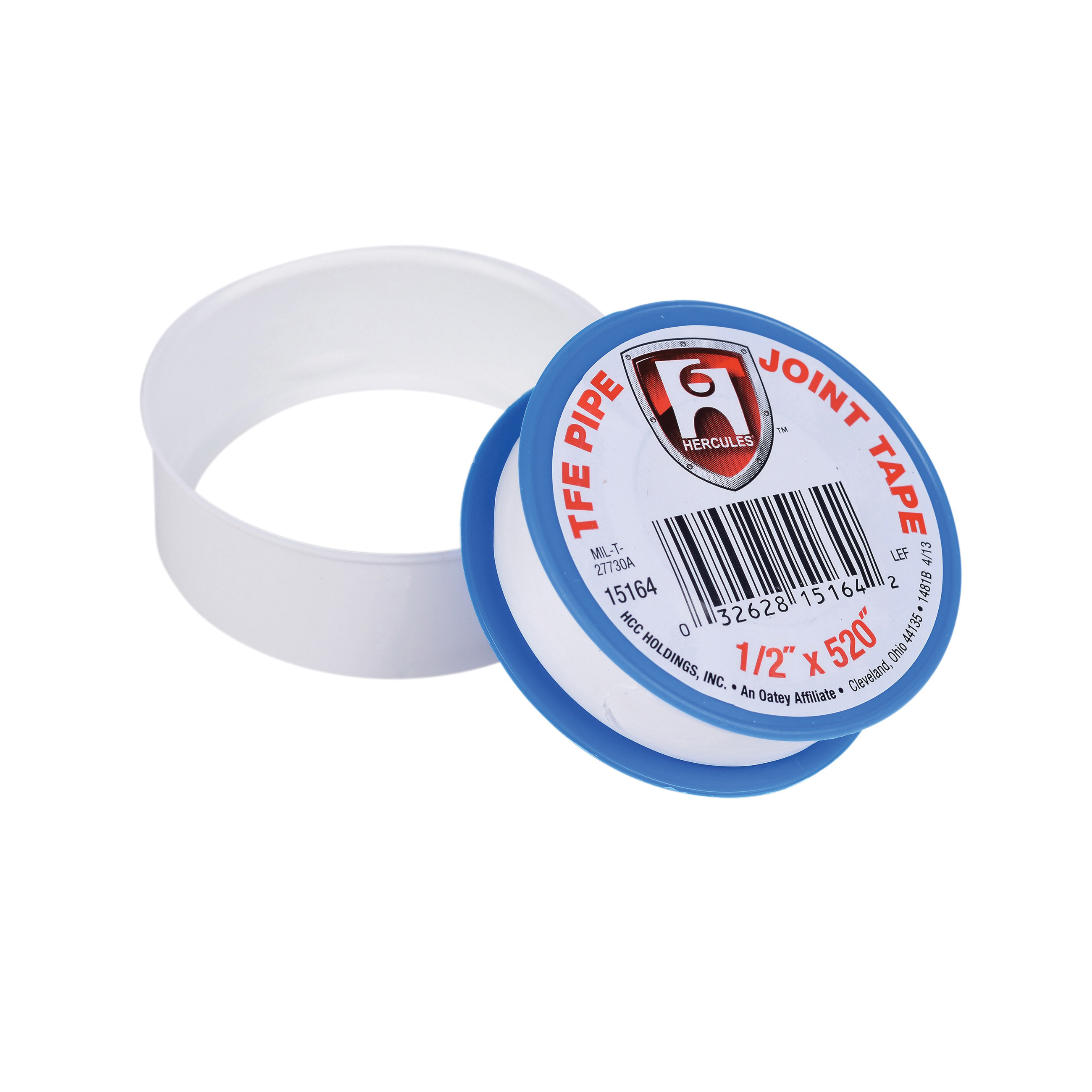 Hercules® 15164 Pipe Joint Tape, 1296 in L x 1/2 in W, PTFE