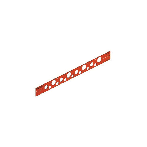 Holdrite® 107-18 Flat Bracket, 0.88 in, 0.63 in, 1.33 in Hole, 25 lb, Cold Rolled Steel, Copper-Bonded™, Domestic
