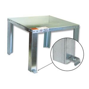 Holdrite® QUICKSTAND™ 40-S-30-U Unassembled Water Heater Stand, 30 in L x 30 in W x 16 in H, For Use With: Up to 100 to 120 gal/1350 lb Water Heater, Domestic