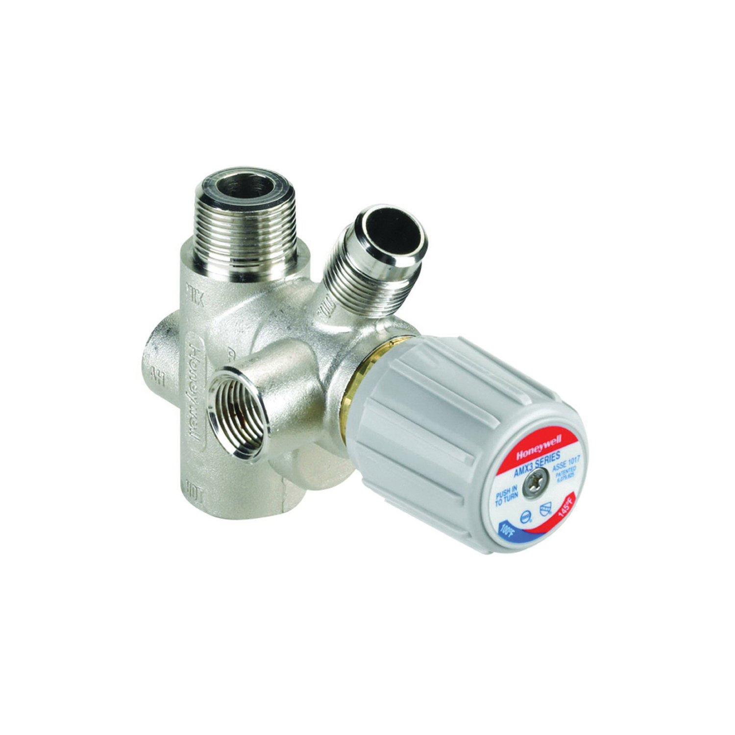 Honeywell AMX300LF/U Low Lead Replacement Mixing Valve, 3/4 in, Brass/Stainless Steel Body, Domestic