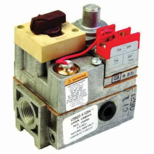 Honeywell VS820A1047/U Standard Opening Gas Valve, 1/2 x 3/4 in, NPT, 0.5 psi, Standing Pilot Ignition, 23000 to 290000 Btu/hr Nominal