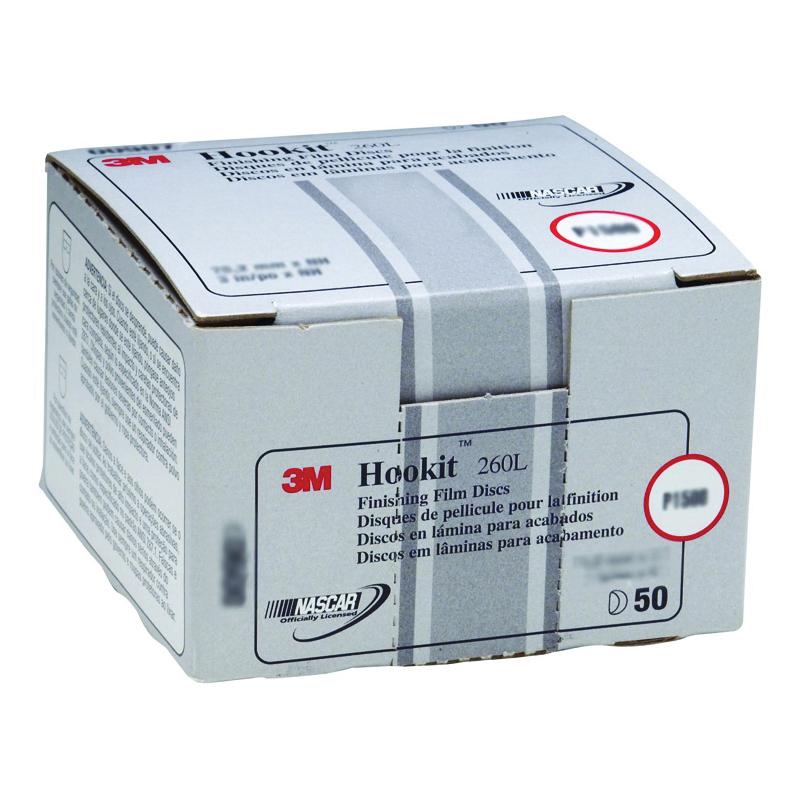 Hookit™ 051131-00963 255L Abrasive Disc, 5 in Dia Disc, P180 Grit, Very Fine Grade, Aluminum Oxide Abrasive, Film Backing