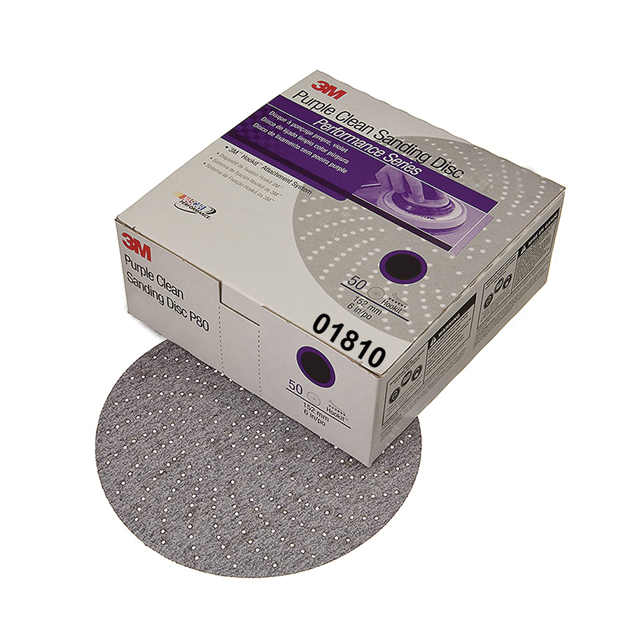Hookit™ 051131-00979 Open Coated Abrasive Hook and Loop Disc, 6 in Dia, P180 Grit, Very Fine Grade, Aluminum Oxide Abrasive, Paper Backing