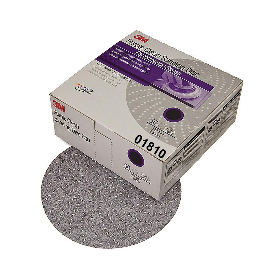 Hookit™ 051131-00982 Open Coated Abrasive Hook and Loop Disc, 6 in Dia, P100C Grit, Fine Grade, Aluminum Oxide Abrasive, Paper Backing