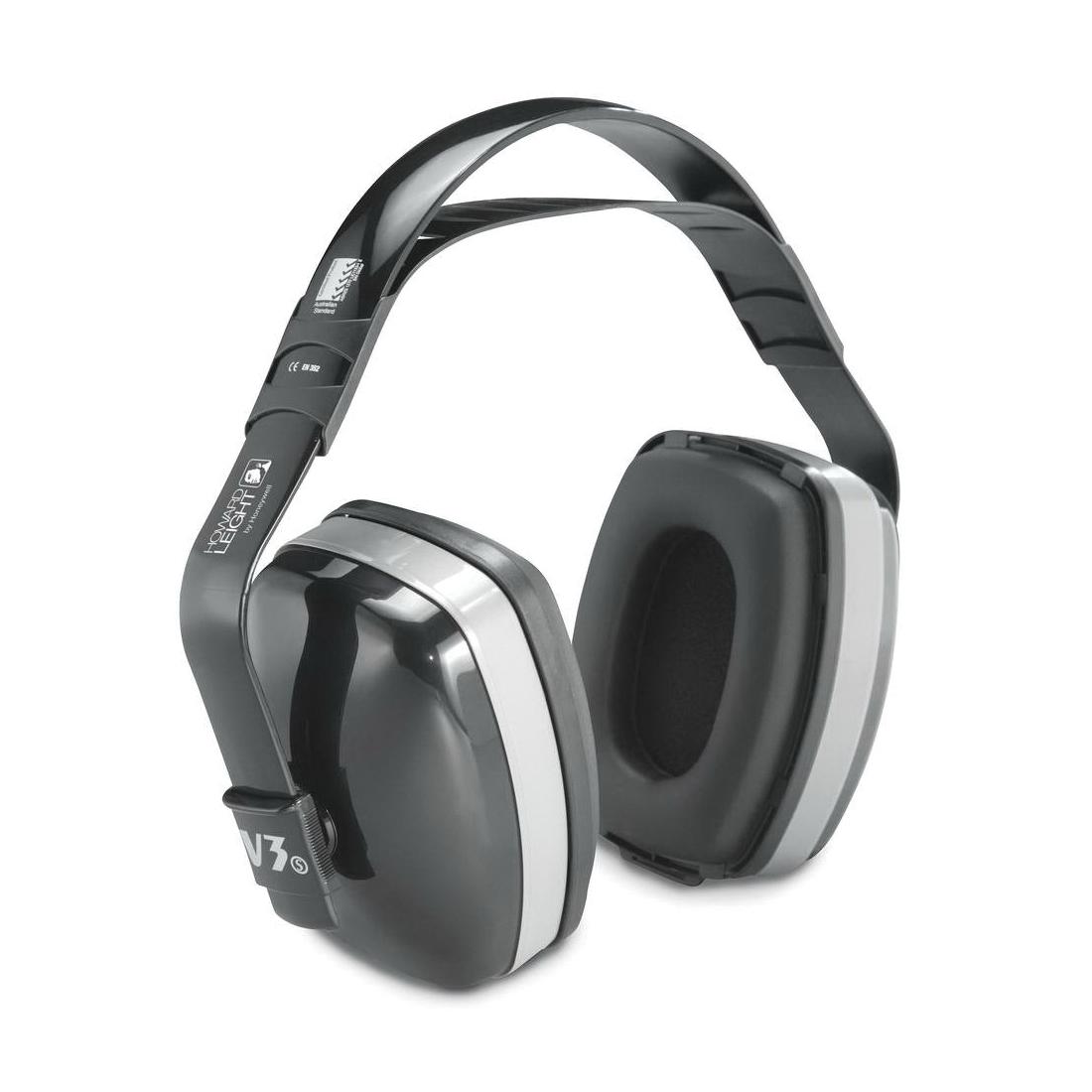 Howard Leight by Honeywell 1010926 Viking® V2 Earmuffs, 27 dB Noise Reduction, Black/Blue, Multi-Position Band Position, ANSI S3.19-1974
