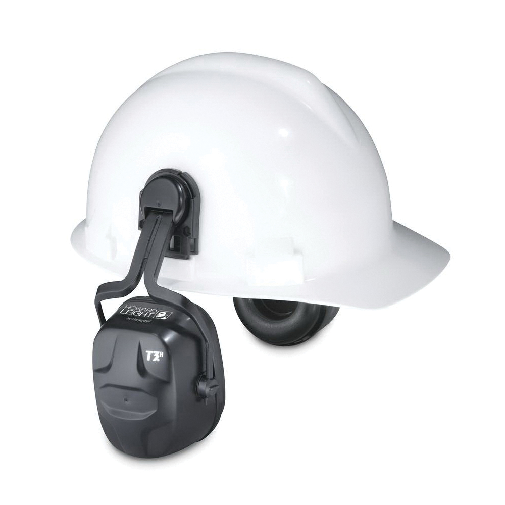 Howard Leight by Honeywell 1011602 Thunder® T2H Dielectric Hard Hat Earmuffs With Hard Hats Adapter, 25 dB Noise Reduction, Green, ANSI S3.19-1974