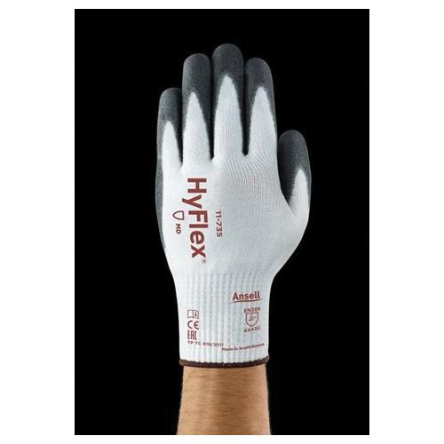 HyFlex® 11627-11 11-627 Dexterity Cut-Resistant Gloves, SZ 11(2X-Large), Nylon/Dyneema® and LYCRA®, Gray, Knit Wrist
