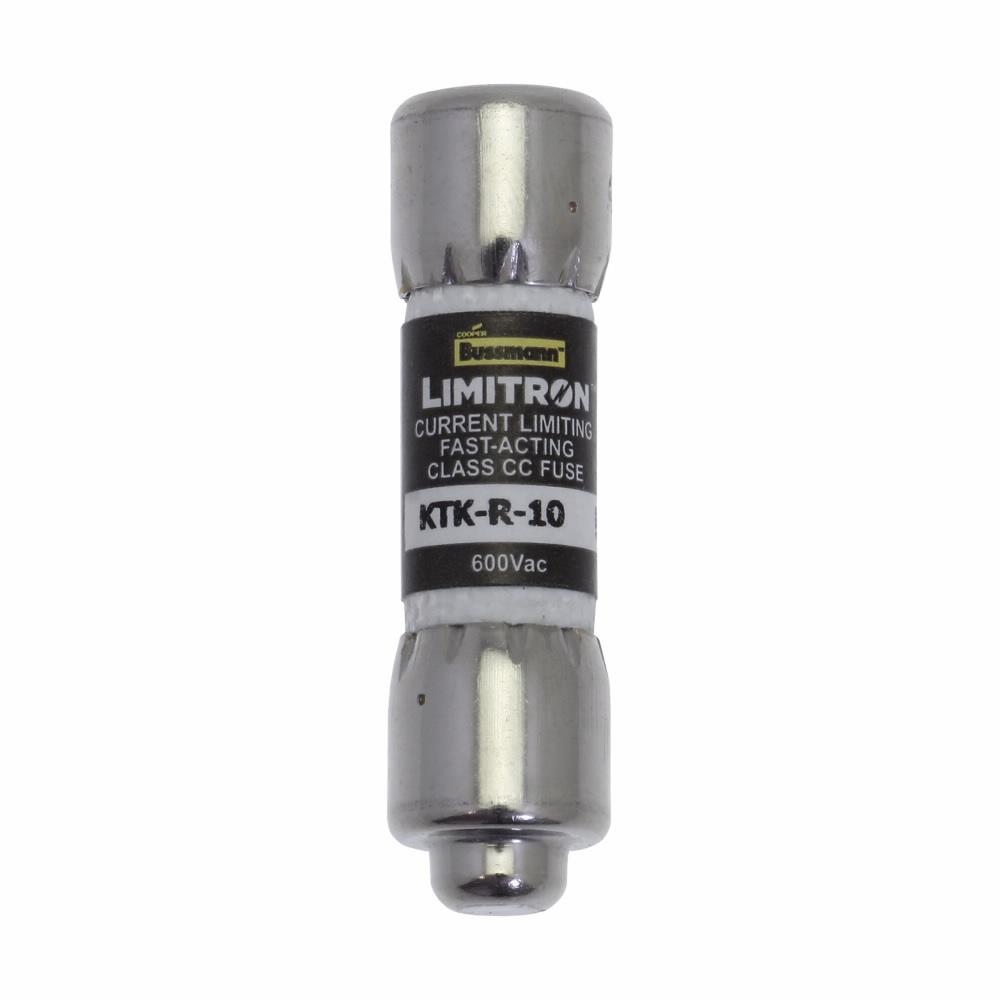 Bussmann LIMITRON™ KTK-R-1 KTK-R Fast Acting Fuse, 1 A, 600 VAC, 200 kA Interrupt, CC Class, Cylindrical Body