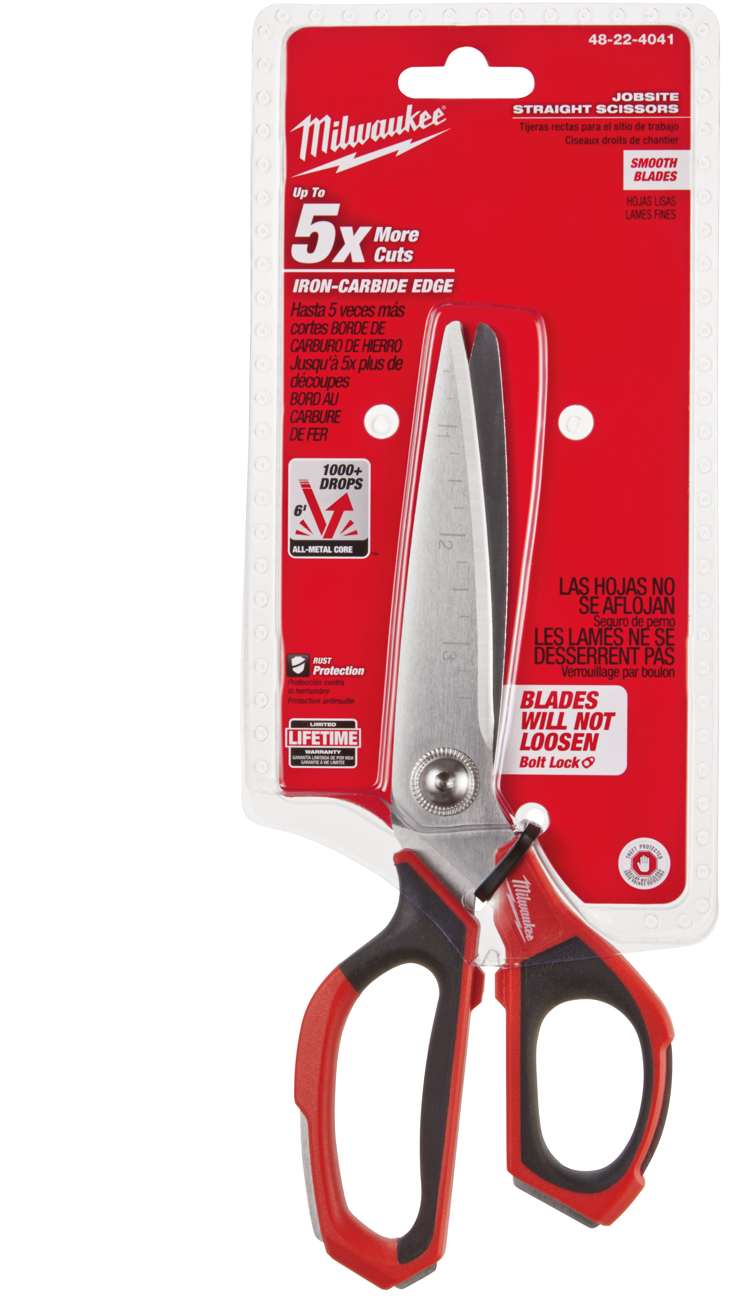 Wiss® 175E Electrician's Scissor, 1-3/4 in L of Cut, 5-1/4 in OAL, Sharp Tip, Drop Forged Solid Steel Blade, Steel Handle