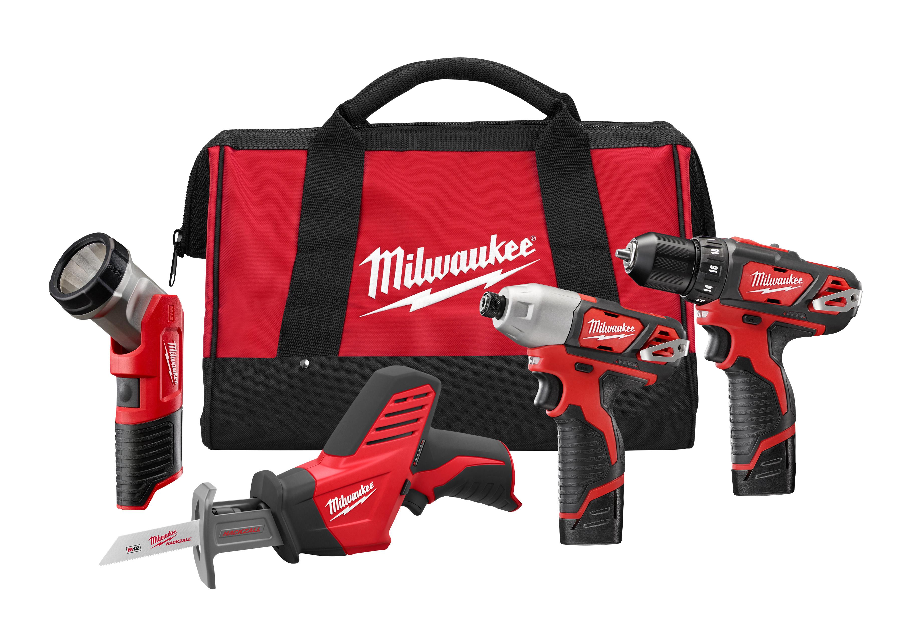 Milwaukee® M18™ REDLITHIUM™ 2697-22 Cordless Combination Kit, Tools: Hammer Drill, Impact Driver, 18 VDC, 3 Ah Lithium-Ion Battery, Keyless Blade