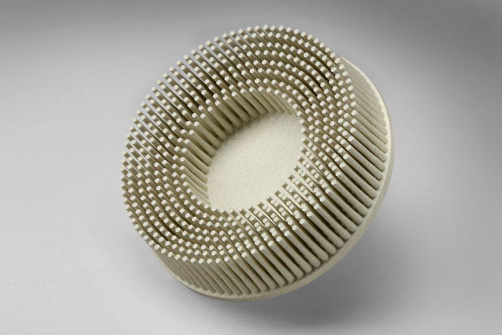 Scotch-Brite™ 051125-94905 Convolute Deburring Wheel, 6 in Dia, 1 in Center Hole, 1 in W Face, Fine Grade, Silicon Carbide Abrasive