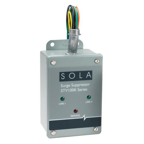 SolaHD SolaHD STV100K-24D4 Surge Protective Device, 480/240 Delta VAC, 47 to 63 Hz, 100 kA SCCR, 3 Phase
