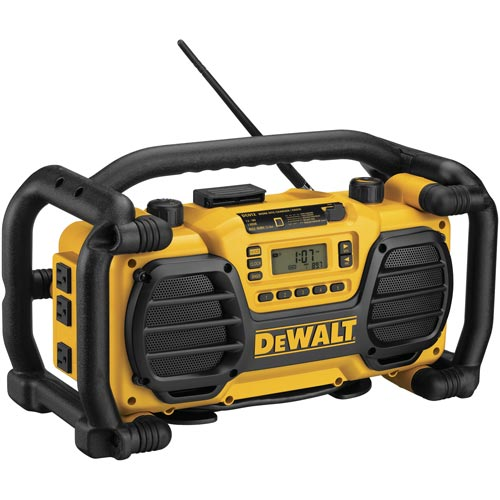 DeWALT® DCR015 Rechargeable Cordless Worksite Charger Radio, 12 V, Lithium-Ion Battery, Tool Only