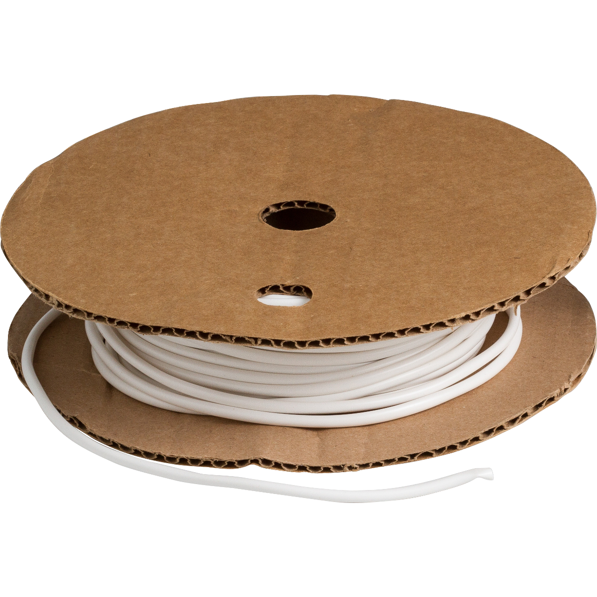 Brady® BradyMark™ PVC-7 Hot Stamping Heat Shrink Tubing, 0.158 in ID Expanded, 0.144 in ID Recovered, 100 ft L, Vinyl, White