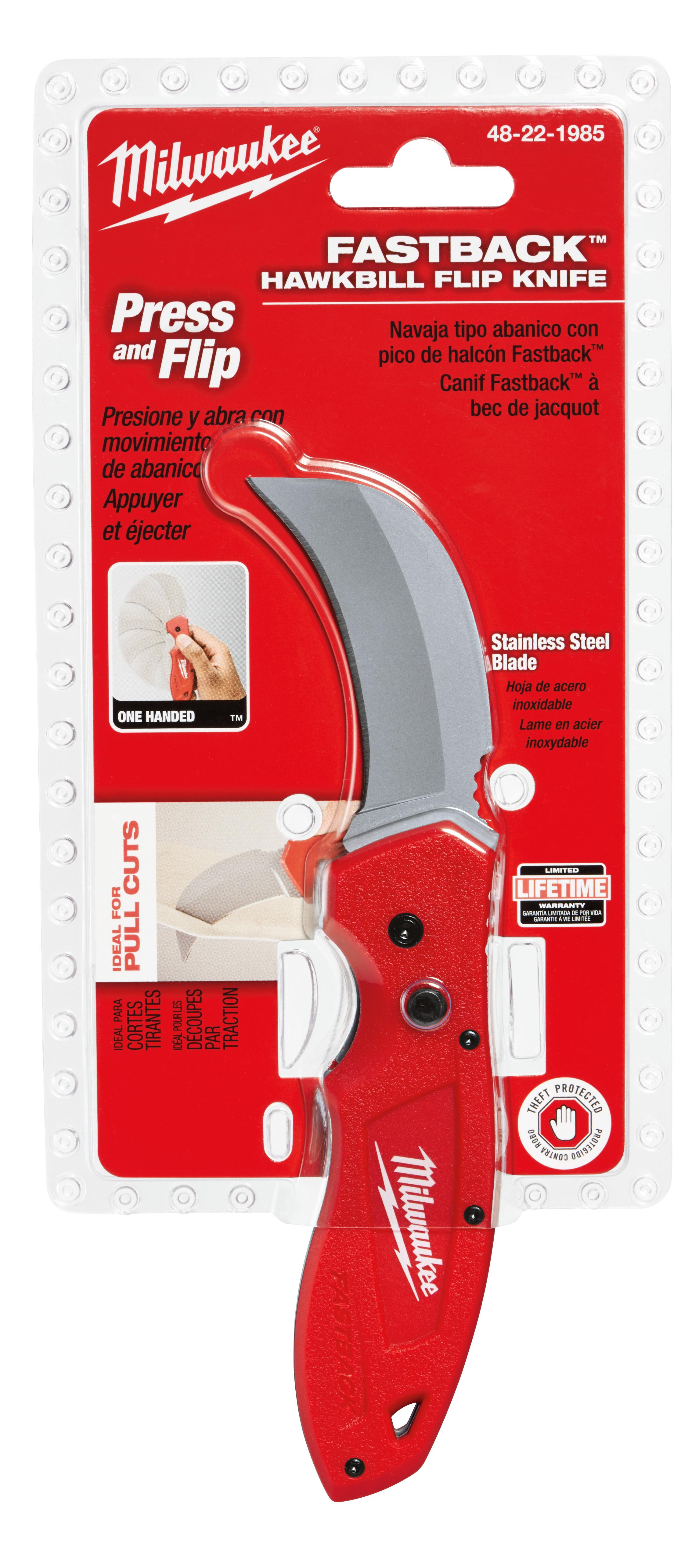 Klein® 1550-6 Lockable Pocket Knife With Screwdriver, 2-3/8 in L Blade, Curve Sheepfoot Standard Spear Point Carbon Steel Blade