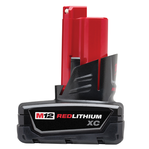 Milwaukee® M12™ REDLITHIUM™ 48-11-2402 High Capacity Rechargeable Cordless Battery Pack, 3 Ah Lithium-Ion Battery, 12 VDC Charge, For Use With Milwaukee® M12™ Cordless Power Tool