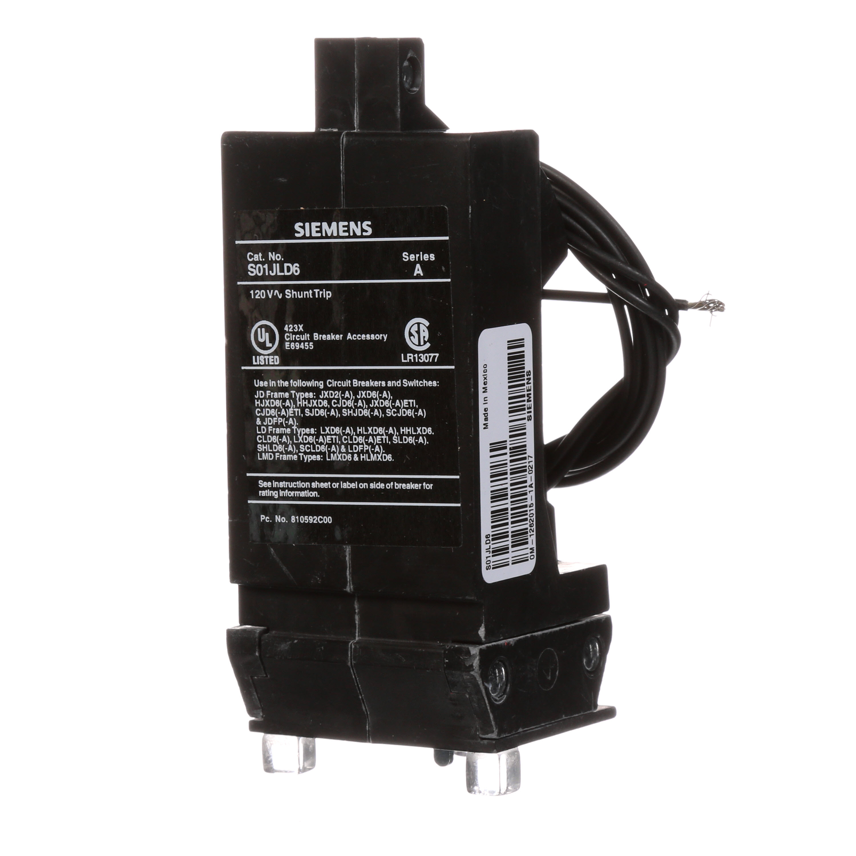 Siemens Q2020 Type QT Duplex Low Voltage Miniature Molded Case Circuit Breaker, 120 VAC, 20 A, 10 kA Interrupt, 1 Poles, Thermal/Magnetic Trip
