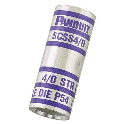 2//0 AWG Wire Panduit SCS2//0-X Copper Compression Butt Splice Standard Barrel