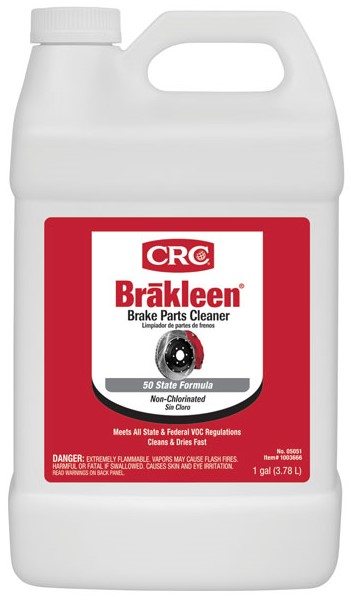CRC® Brakleen® 05050 Extremely Flammable Non-Chlorinated Brake Parts Cleaner, 20 oz Aerosol Can, Solvent Odor/Scent, Clear, Liquid Form