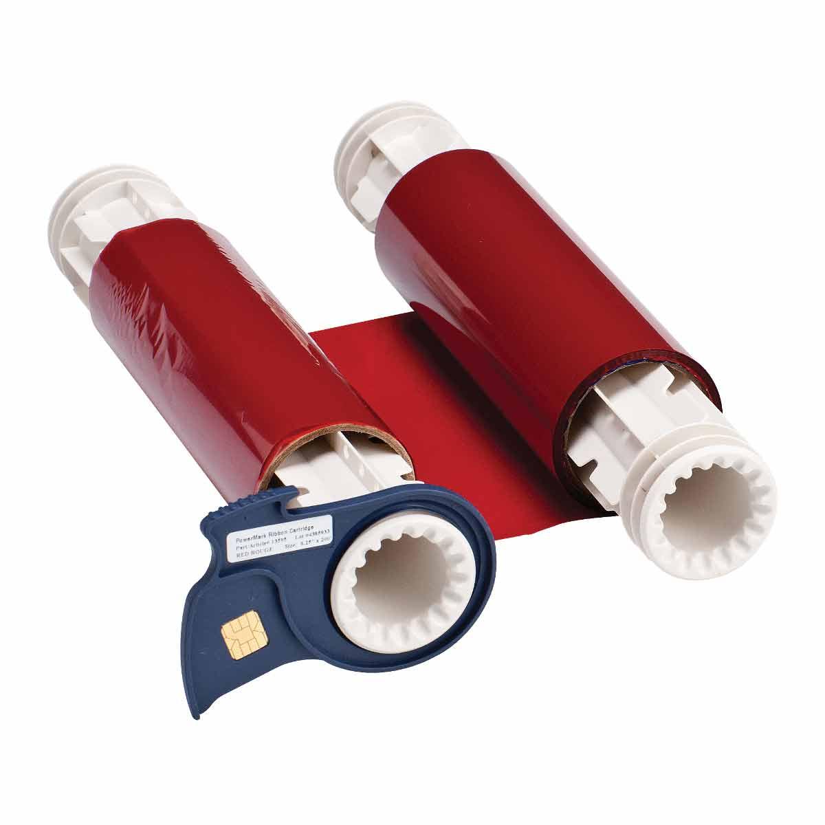 Brady® 13522 R10000 2-Color Industrial Grade Printer Ribbon, 200 ft L x 8.8 in W, Resin, Black/Red