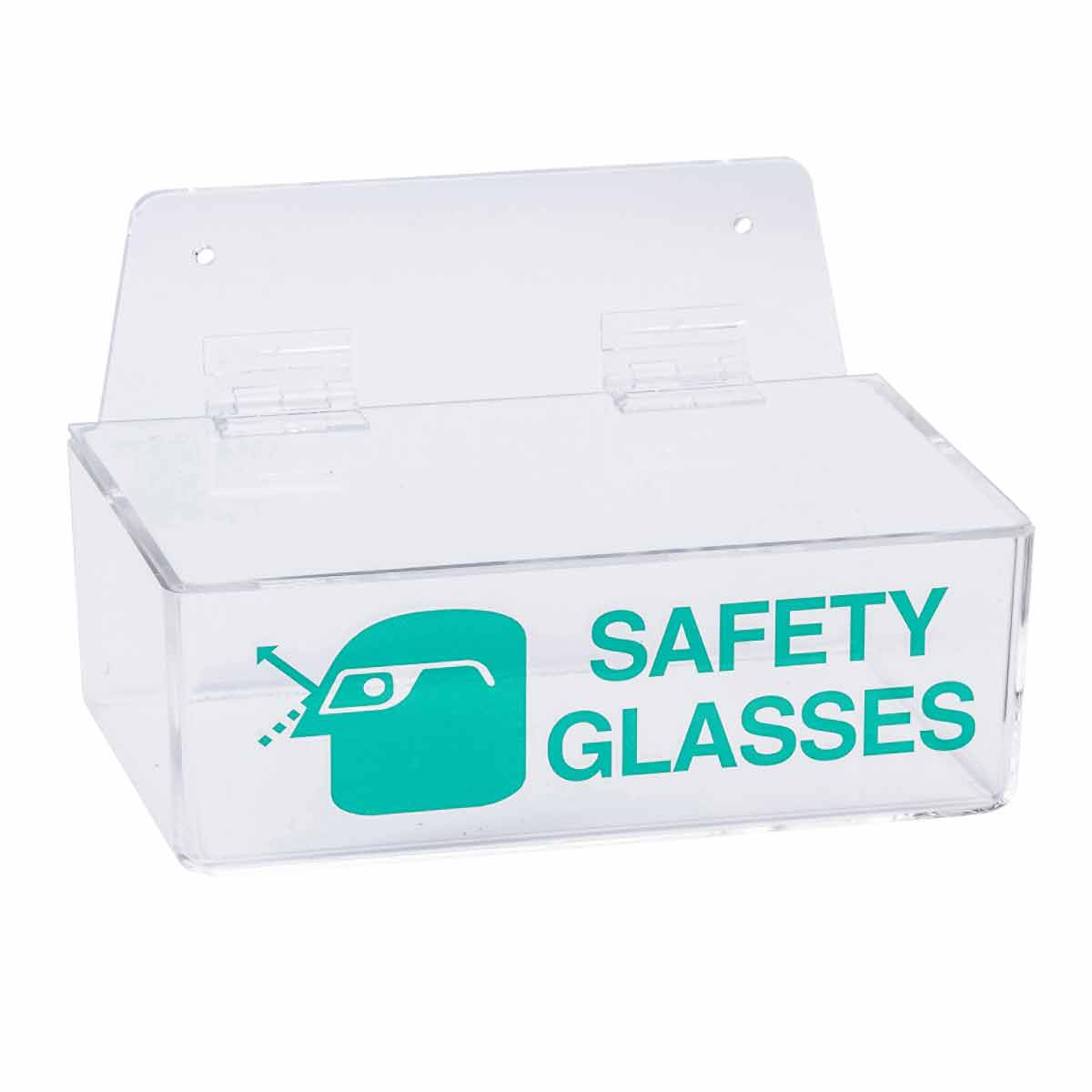 Brady® 2011 Open Top Safety Glass Holder, 4 to 6 Pair Capacity, 3 in H x 9 in W x 6 in D, Plastic, Surface Mount