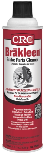 CRC® 05088 Brakleen® Extremely Flammable Non-Chlorinated Organic Solvents/Alcohol Brake Parts Cleaner, 20 oz Aerosol Can, Liquid, Clear, Solvent