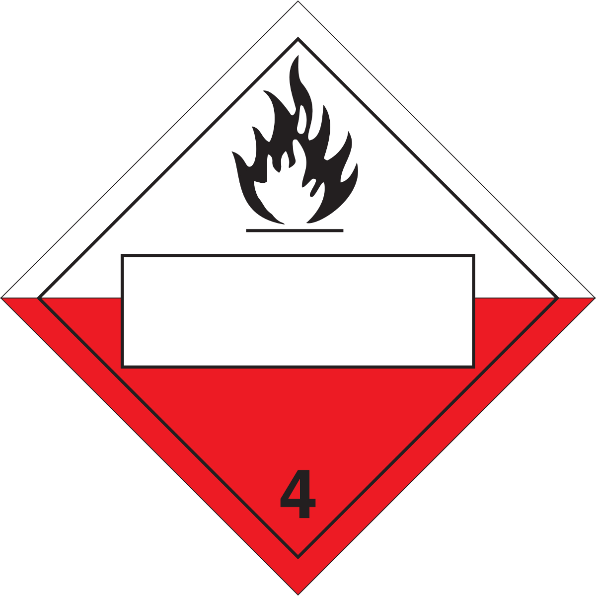 Brady® 60410 Diamond DOT Vehicle Placard, 10-3/4 in W, B-120 Fiberglass, White Background, Red Legend