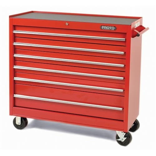 Proto® J444142-15RD 440SS Standard Duty Mobile Work Station, 41 in L x 41-1/2 in W x 42 in H, 1800 lb Load, Red