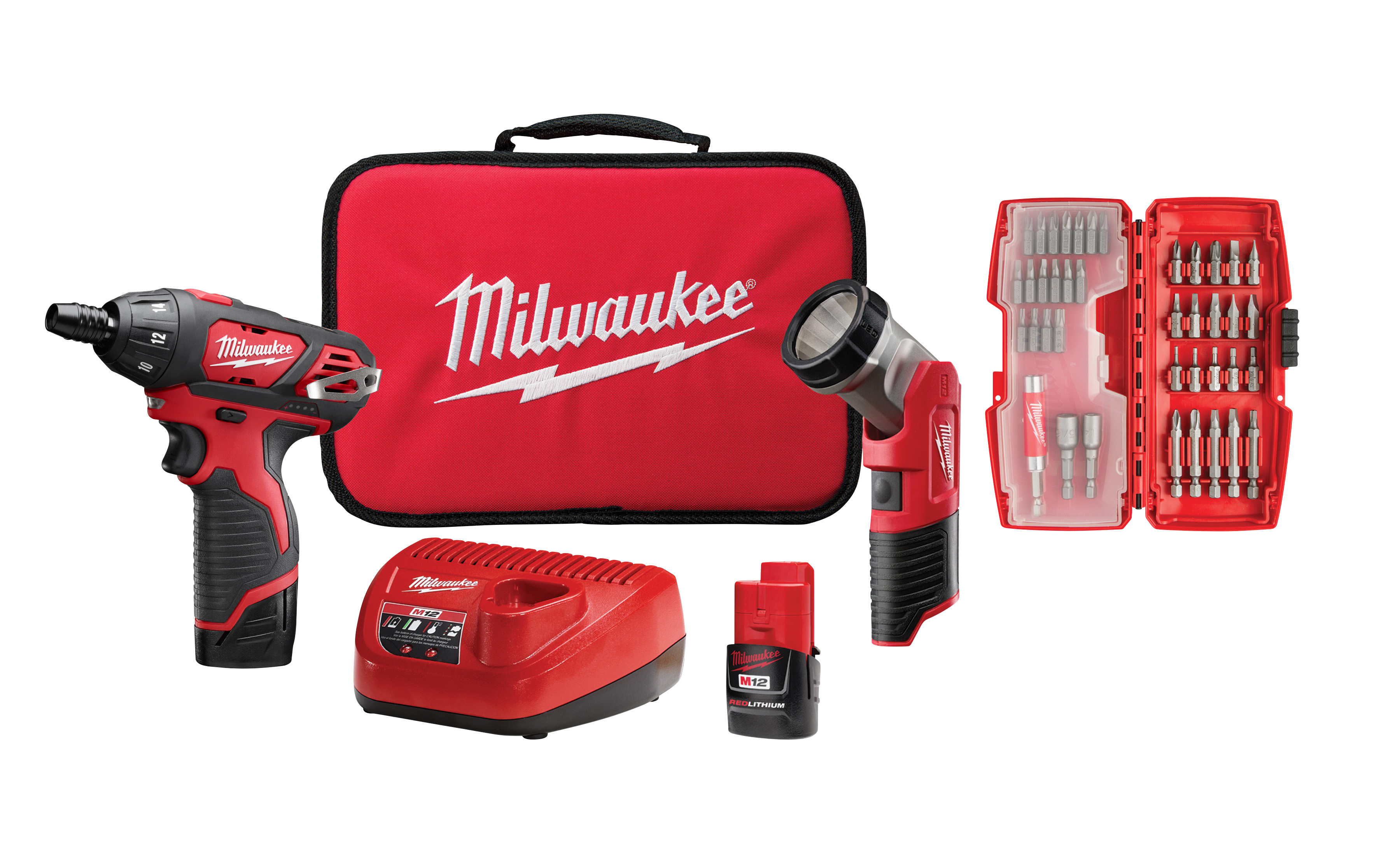 Milwaukee® M12™ 2462-20 High Performance Cordless Impact Driver, 1/4 in Hex/Straight Drive, 3300 bpm, 1000 in-lb Torque, 12 VAC, 6-1/2 in OAL