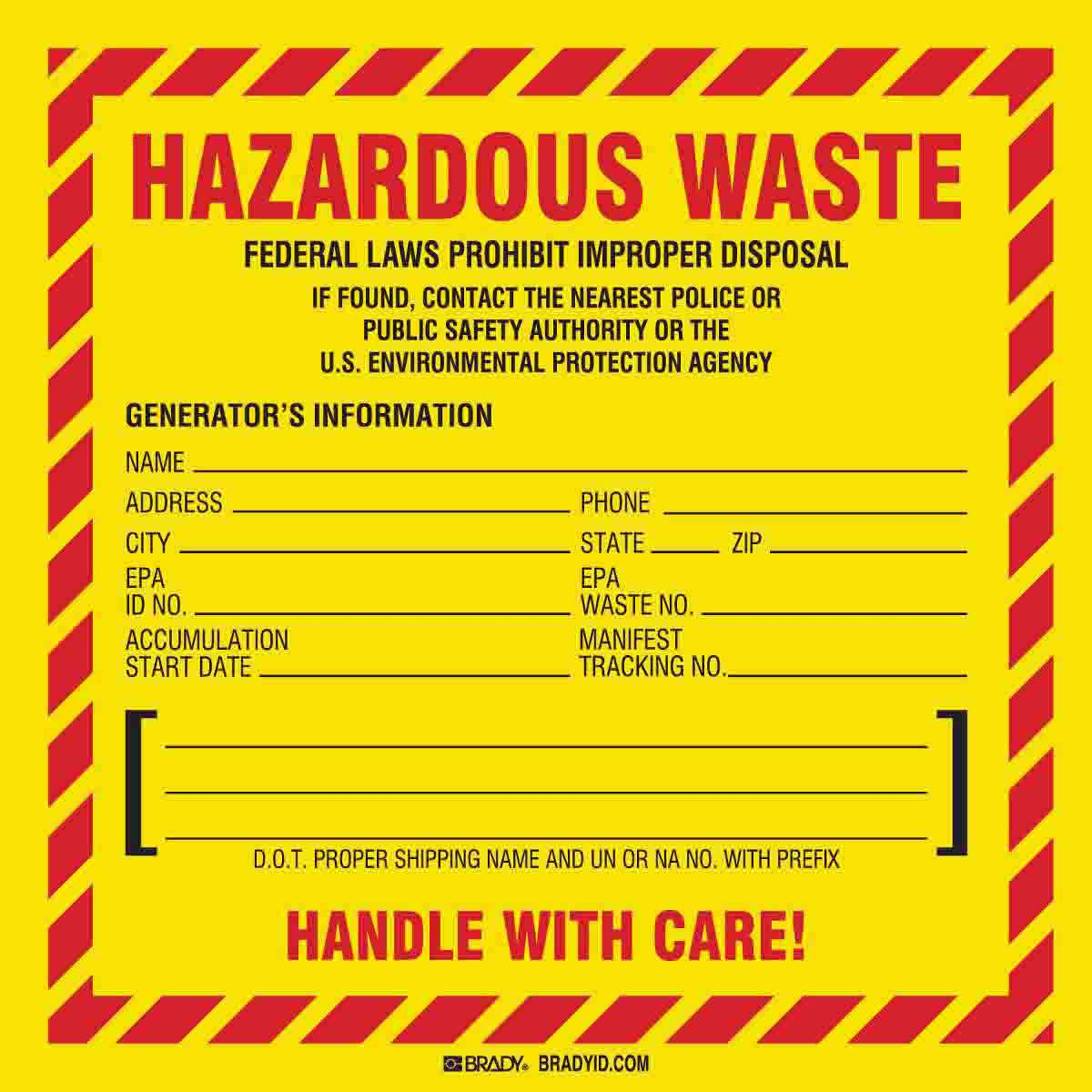 Brady® 121067 Diamond Non-Reflective Self-Adhesive Hazardous Material Shipping Label, 4 in W, FLAMMABLE LIQUID 3 Legend, Red on White, B-7569 Adhesive Vinyl Film, 500 per Roll Labels