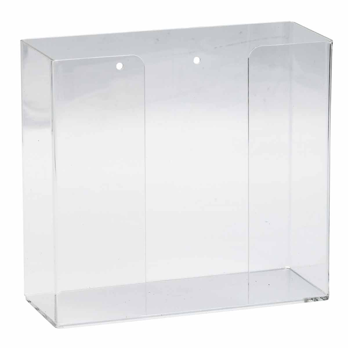 Brady® GD01 1-Box Glove Dispenser, 1 Compartment, Surface/Wall Mount, Hinged Top Dispensing, Acrylic Glass, Clear