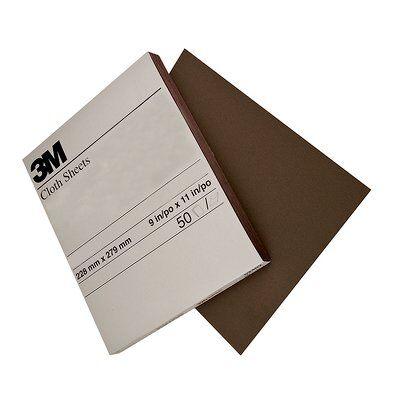 3M™ 02432 011K Utility Abrasive Sheet, 11 in L x 9 in W, Medium Grade, Aluminum Oxide Abrasive, Cloth Backing