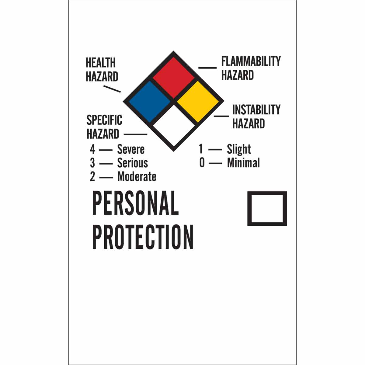 Brady® 121158 Non-Reflective Self-Adhesive Square Hazardous Waste Label, 6 in W, NON-REGULATED WASTE GENERATOR INFORMATION___, ETC. Legend, Blue on White, B-7569 Adhesive Vinyl Film, 50 per Pack Labels