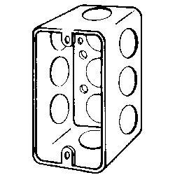 Appleton® ETP™ 2540 Handy Box Cover, 4 in L x 2-1/8 in W, Blank Cover, Steel