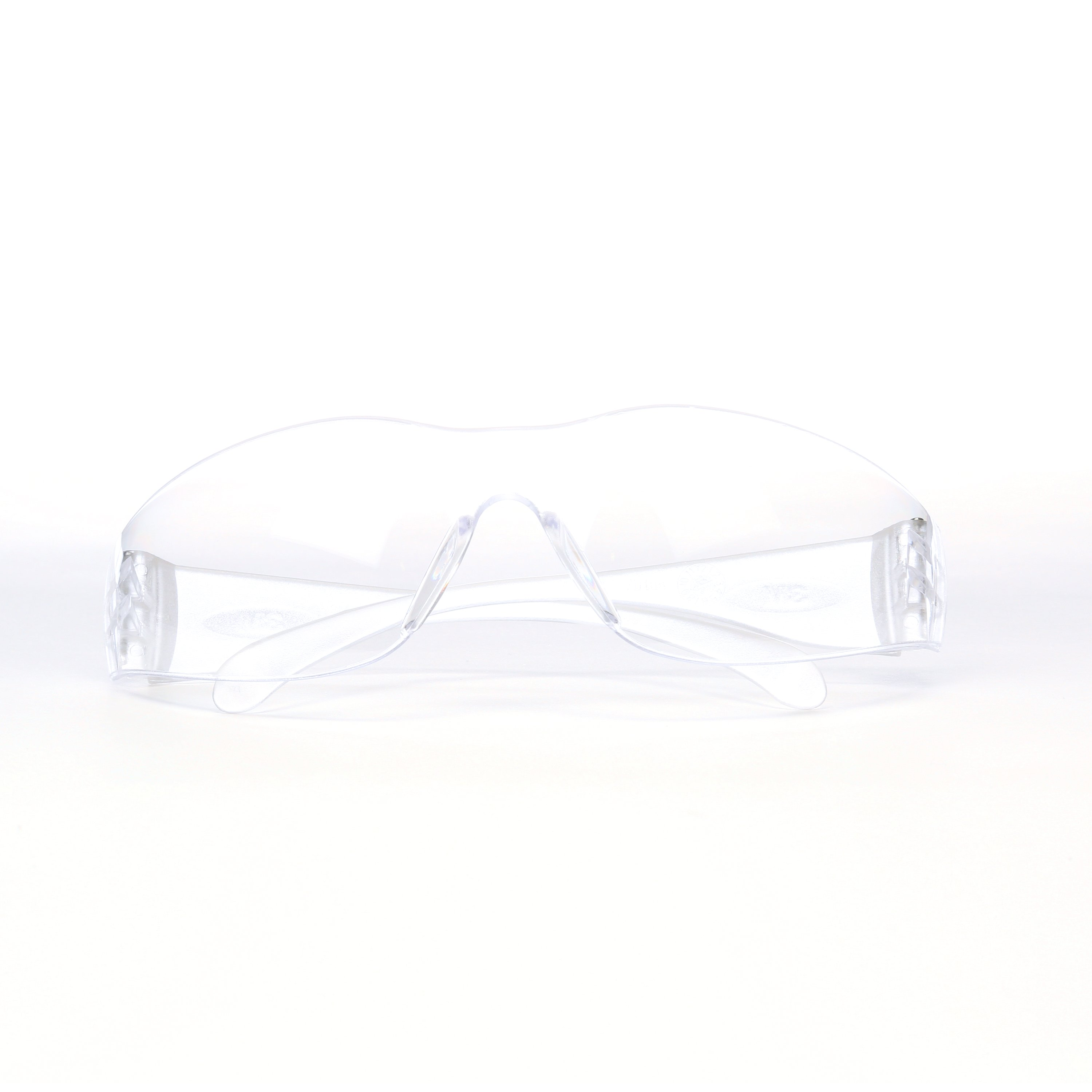 3M™ 051141-97587 Non-Mirrored Safety Eyewear, Anti-Scratch, Clear Lens, Wrap Around Frame, Black/Red, Plastic Frame, Polycarbonate Lens, ANSI Z87.1-2010, CSA Z94.3, AS/NZS 1337