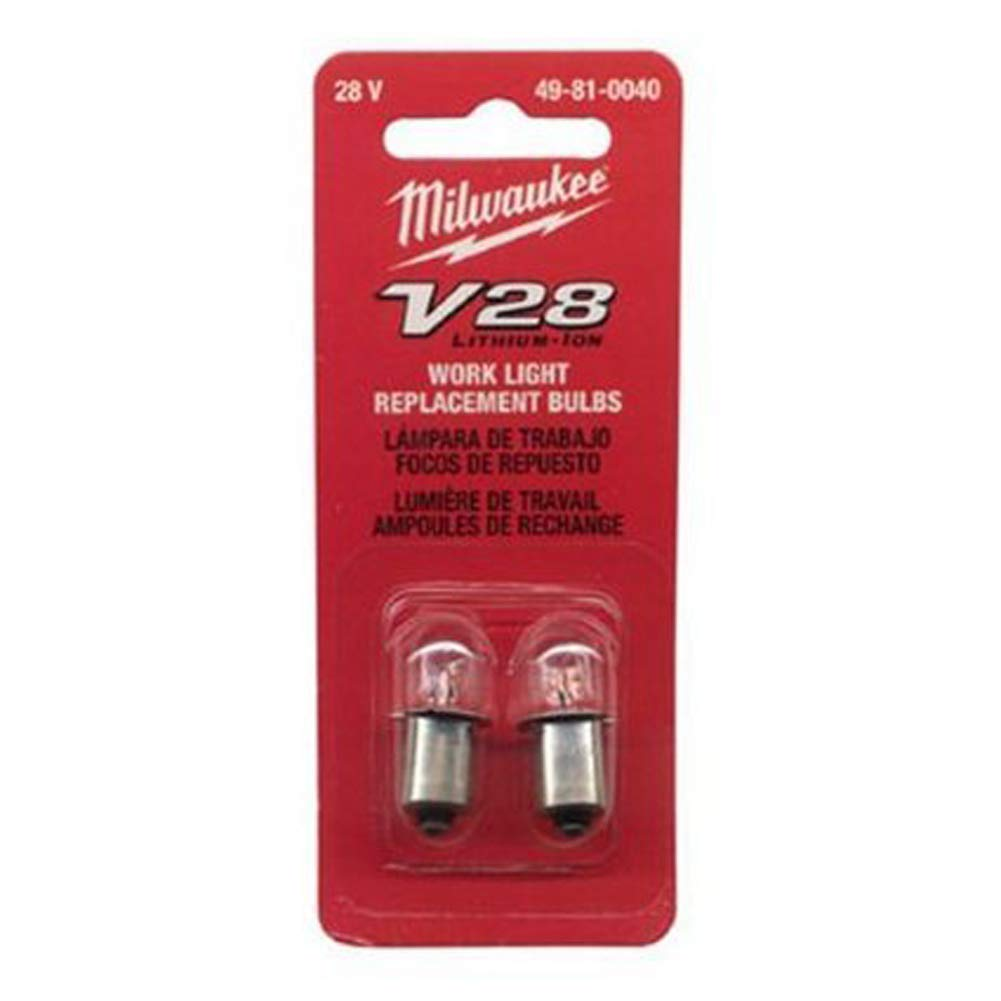 Milwaukee® 49-81-0030 Replacement Work Light Bulb, 10.8 W, Incandescent Bulb, Miniature Flanged Base, Blunt Tip Shape