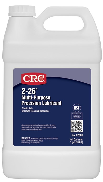 CRC® 02005 2-26® Flammable CPSC Multi-Purpose Thin Non-Drying General Purpose Lubricant, 16 oz Aerosol Can, Liquid Form, Amber, 0.82