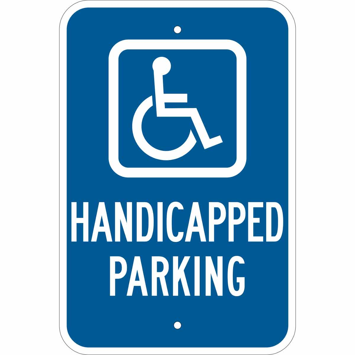 Brady® 103739 Rectangular No Parking Sign, Symbol/Text, B-959 Aluminum, 18 in H x 12 in W, Black/Red on White