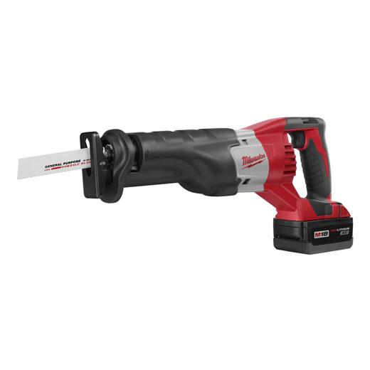 Milwaukee® 2620-20 M18™ Sawzall® Anti-Vibration Cordless Reciprocating Saw, 1 in L Stroke, 0 to 3200 spm, Orbital Cut, 18 VDC, 17-3/4 in OAL