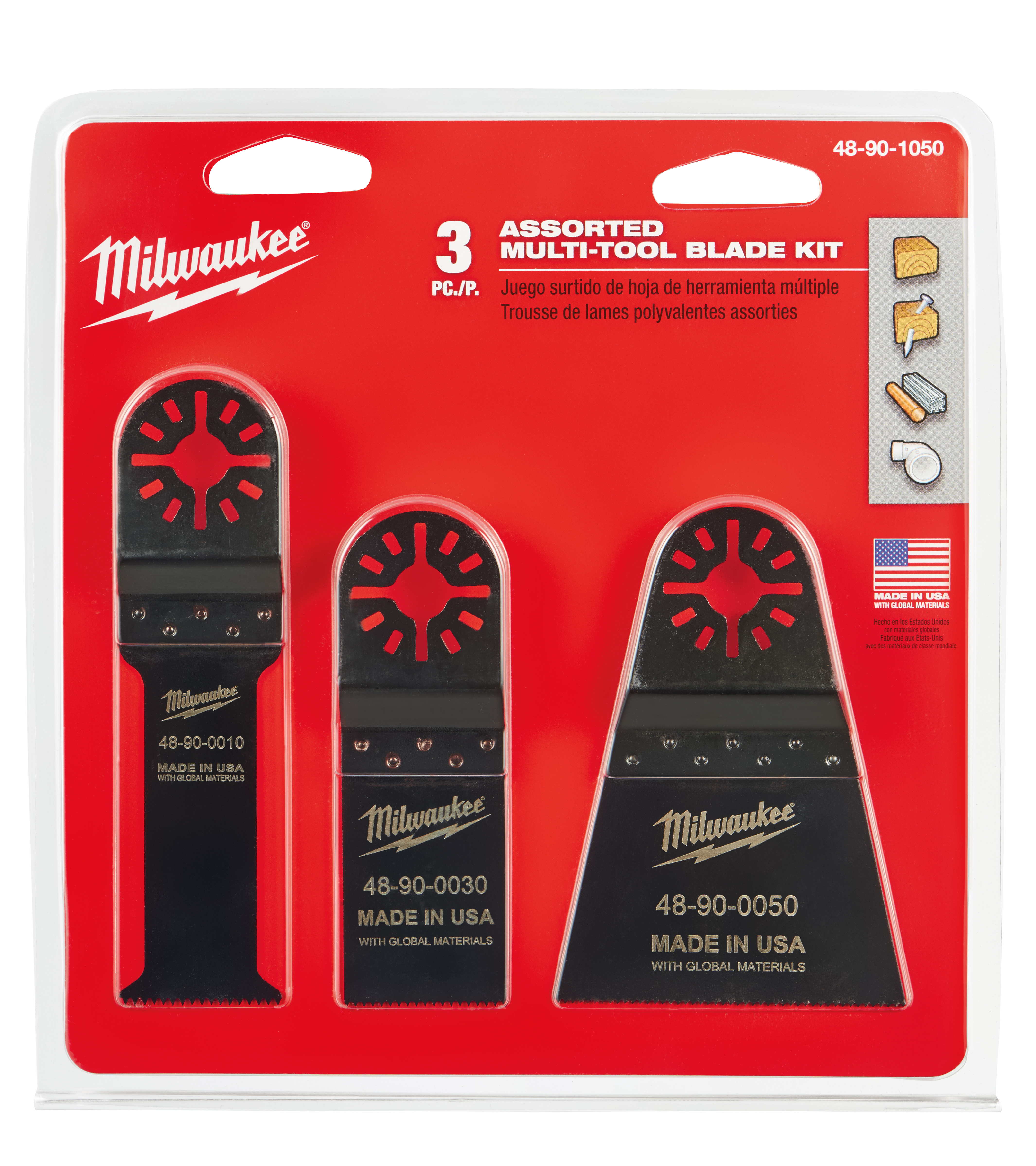 Milwaukee® 48-90-0050 Multi-Tool Blade, For Use With Oscillating Tool, 2-1/2 in Dia Cutting, Bi-Metal