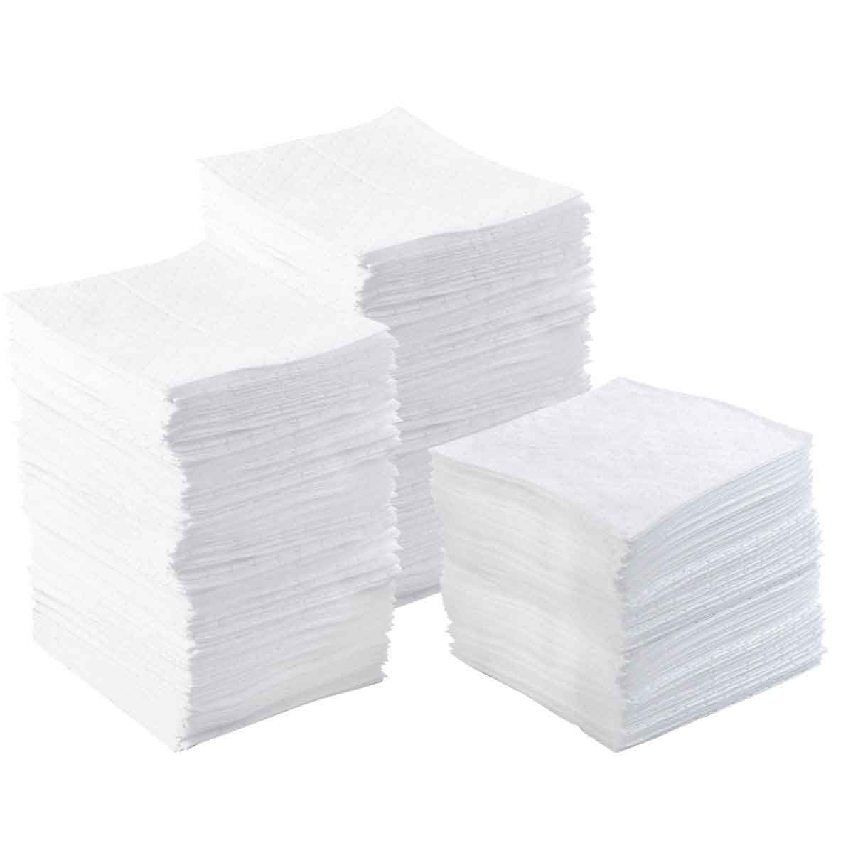 SPC® BASIC® BPO200 Lightweight Perforated Absorbent Pad, 17 in L x 15 in W x 1 ply THK, 34 gal Absorption, Meltblown Polypropylene