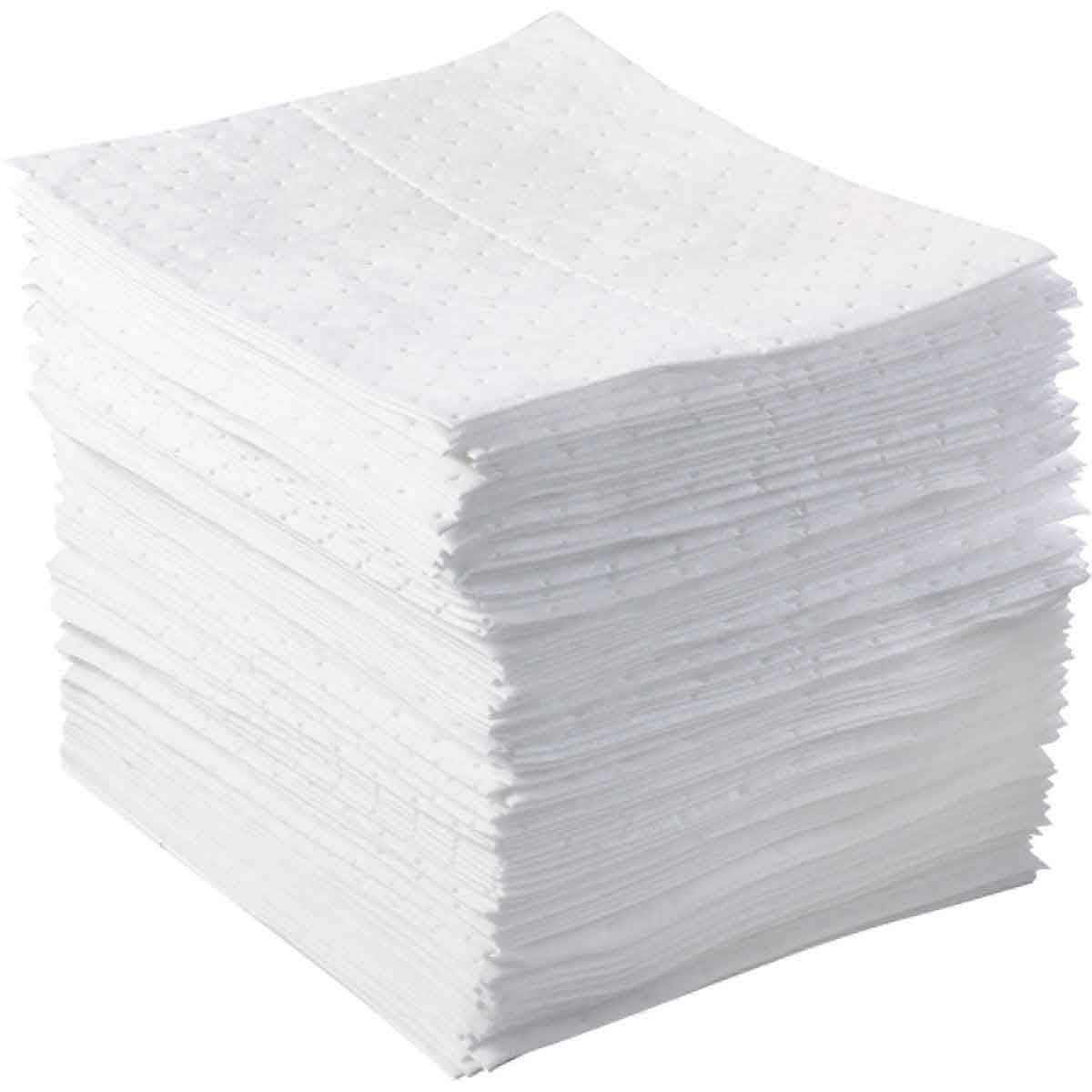 SPC® BPH100 BASIC Dimpled Heavyweight High-Linting Meltblown Chemical Absorbent Pad, 17 in L x 15 in W, 20 gal Absorption, Polypropylene