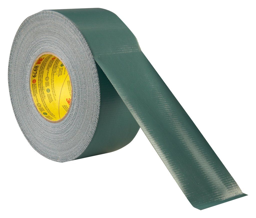 3M™ 051115-24883 2929 Duct Tape, 50 yd L x 1.88 in W, 5.5 mil THK, Rubber Adhesive, Polyethylene Backing, Silver