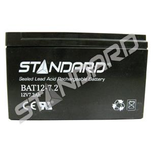 Standard® BATTERY/12V/7.2Ah/0.188/TABS (BAT12-7.2) 57337
