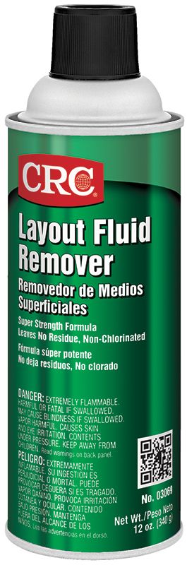 CRC® 03066 Extremely Flammable Layout Fluid, 12 oz Bottle, Blue, Liquid Form