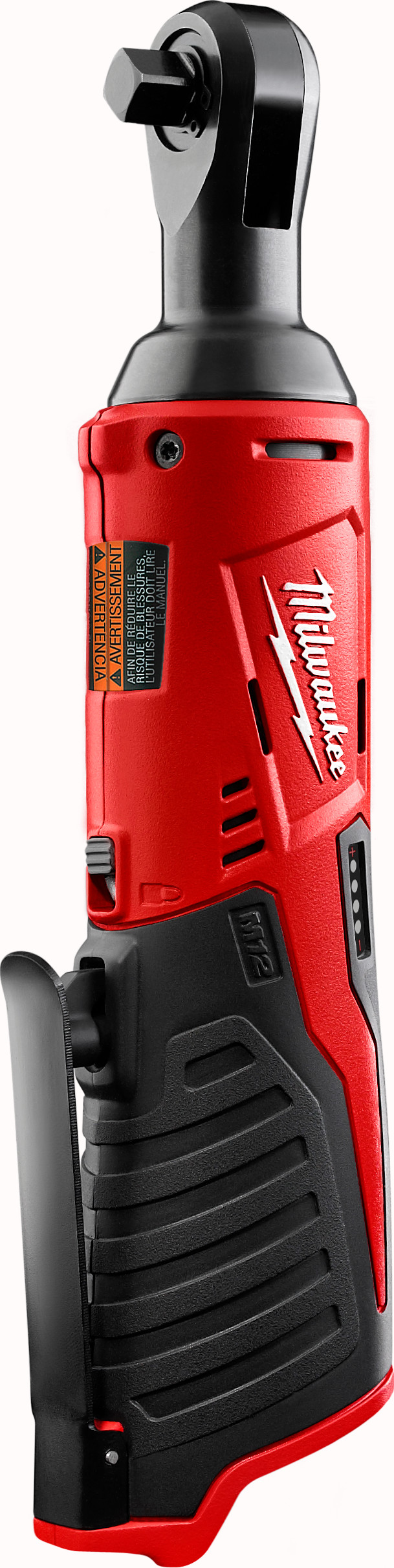 Milwaukee® M12™ 2456-21 Double Insulated Cordless Ratchet Kit, 1/4 in Drive, 30 ft-lb Torque, 250 rpm Speed, 12 VDC, Lithium-Ion Battery, 10-3/4 in OAL